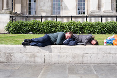 L1010596-1.jpg (Bulent Acar) Tags: men street trafalgarsquare colour sleeping