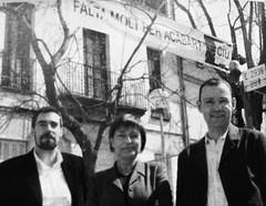 Francesc Camps, Consol Pla i Alfons Escoda durant la campanya de CiU a les municipals de 2003 (ArxiuTOT) Tags: cerdanyola cerdanyoladelvallès totcerdanyola francesccamps consolpla alfonsescoda ciu