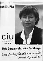 Anunci Electoral de Consol Pla (CiU). Municipals 2003 a Cerdanyola del Vallès (ArxiuTOT) Tags: cerdanyola cerdanyoladelvallès totcerdanyola consolpla ciu