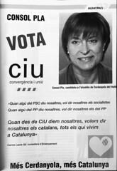 Publicitat Electoral de CiU durant les municipals de 2003 (ArxiuTOT) Tags: cerdanyola cerdanyoladelvallès totcerdanyola ciu consolpla