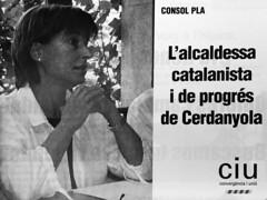 Anunci de Consol Plà (CiU Cerdanyola) durant la campanya de les eleccions municipals a Cerdanyola, 2003 (ArxiuTOT) Tags: cerdanyola cerdanyoladelvallès totcerdanyola consolpla ciu