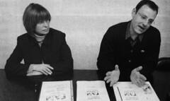 Consol Pla i Alfons Escoda (CiU) durant la campanya de les eleccions municipals de 2003 (ArxiuTOT) Tags: cerdanyola cerdanyoladelvallès totcerdanyola consolpla alfonsescoda ciu