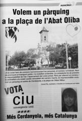 Publicitat electoral de CiU a les municipals de Cerdanyola, 2003 (ArxiuTOT) Tags: cerdanyola cerdanyoladelvallès totcerdanyola consolpla ciu