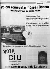 Publicitat de CiU a Cerdanyola del Vallès. Municipals 2003. Candidata: Consol Plà (ArxiuTOT) Tags: cerdanyola cerdanyoladelvallès totcerdanyola consolpla ciu