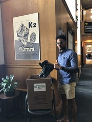 "Vibram employees donating shoes to the community shoe drive • <a style=""font-size:0.8em;"" href=""http://www.flickr.com/photos/45709694@N06/47996354288/"" target=""_blank"">View on Flickr</a>"