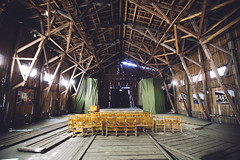 Vyborg Military Museum of the Karelian Isthmus (dataichi) Tags: russia росси́я travel destination tourism indoor indoors stage theatre spectacle hangar warehouse seats wooden architecture museum karelia culture art