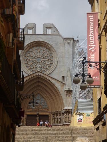 Tarragona Cathedral from Carrer Major, Tarragona