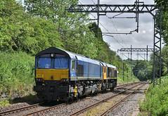 EU Migrant (whosoever2) Tags: uk united kingdom gb great britain nikon d7100 train railway railroad june 2019 kidsgrove cheshire gbrf 66741 66790 class66
