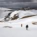 Cale Green and Michael Dickerson climbing Mount Adagdak. Adak Island, Alaska