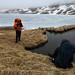 Cale Green and Michael Dickerson at Lake Leslie Ann. Adak Island, Alaska
