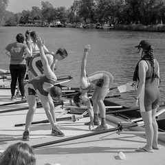Pre-race exercises (FlickrDelusions) Tags: oxford riverthames oxfordshire isis river eights exercise rowing thames ourc summereights england unitedkingdom