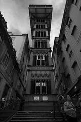 Lisbon's Santa Justa Lift (1) (lebre.jaime) Tags: bw portugal architecture digital blackwhite nikon downtown lift noiretblanc lisbon pb fullframe fx ff pretobranco santajusta d600 ptbw affinity nikkorafs1735f28d affinityphoto