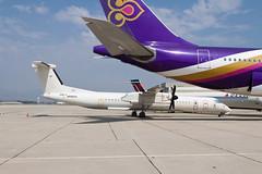 ex-Japan Air Commuter Bombardier Dash-8 Q400 (DHC-8-400) N689UA (jbp274) Tags: sbd ksbd airport airplanes wfu stored bombardier dhc8 dash8 q400