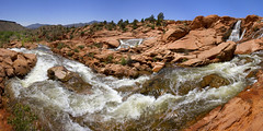 Waterfall at Gunlock reservoir near St George Utah (swissuki) Tags: water fall nature landscape usa ut utah gunlock mountain sky sun stgeorge
