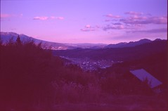 (✞bens▲n) Tags: contax g2 kodak dyna 100 carl zeiss 45mm f2 film analogue slide expired japan nagano landscape mountains