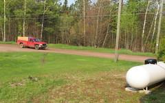 Rural infrastructure (yooperann) Tags: red pickup truck white propane tank road gwinn forsyth township upper peninsula michigan