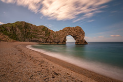 Durdle Door (mclcbooks) Tags: durdledoor jurassiccoast dorset england sea ocean cliffs arch clouds sky beach longexposure le landscape