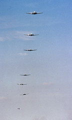 Dakota fly-by (ChrisChen76) Tags: coventry baginton dc3 c47 dakota airatlantique uk