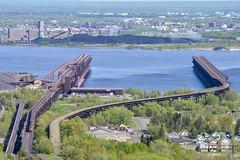 DMIR 404 at the Duluth Ore Docks. 6/1/19 (tjman274) Tags: lake minnesota dock ore duluth lakesuperior duluthmn oredock dmir twinports emd tunnelmotor sd40 sd40t