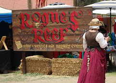 Quietly Waiting Their Turn (Robb Wilson) Tags: renaissancepleasurefaire irwindalecalifornia roguesreef music bawdyentertainment naughtycontent haybales renaissancefaires