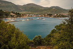 Island harbour..... (Dafydd Penguin) Tags: island harbour harbor port dock sea water ship vessel sailboat saiing yacht sail boat yachting guld corinth greece mountains leica m10 21mm super elmar f34