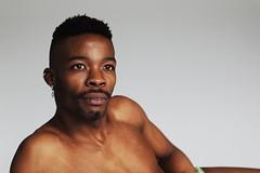 J.R. # 14 (just.Luc) Tags: man male homme hombre uomo mann barechested shirtless torsenu portret portrait ritratto retrato porträt face gezicht visage gesicht handsome attractive afrikaan africain afrikaner african