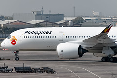 Philippine Airlines - Airbus A350-941 / RP-C3508 @ Manila (Miguel Cenon) Tags: pal pala350 pala359 pra350 pra359 philippineairlines planespotting ppsg philippines plane pr rpll airplane airplanespotting apegroup appgroup airport airbus airbusa350 airbusa359 a359 a350 manila nikon naia d3300 wings widebody widebodyjet wing twinengine fly flying jet rollsroyce rrtrent trentxwb sky aircraft window cockpit building city rpc3508 speciallivery lovebus