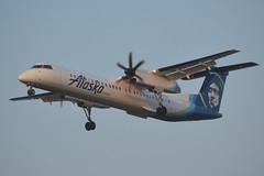 N447QX (LAXSPOTTER97) Tags: horizon air alaska airlines bombardier dhc8 dash8 q400 n447qx cn 4364 airplane aviation airport kpdx