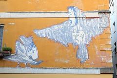 . (just.Luc) Tags: birds vogels oiseaux vögel graffiti grafitti streetart urbanart wall muur mur mauer milaan milan milano mailand lombardije lombardei lombardy lombardie lombardia italia italy italien italie italië blue bleu blauw blau azul blu