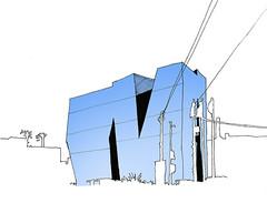 Hokusai Museum. Tokyo. April 2019 (stevefaradaysketches) Tags: hokusai museum tokyo urbansketch urbansketchers usk japan architecture contemporaryarchitecture inkdrawing illustration onlocation buildings cityscape negativespace