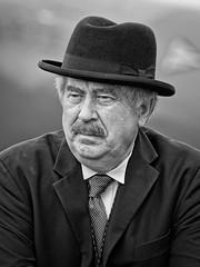 1940s portrait (douglasjarvis995) Tags: 1940s man bnw hat head monochrome mono 300mm pentax portrait