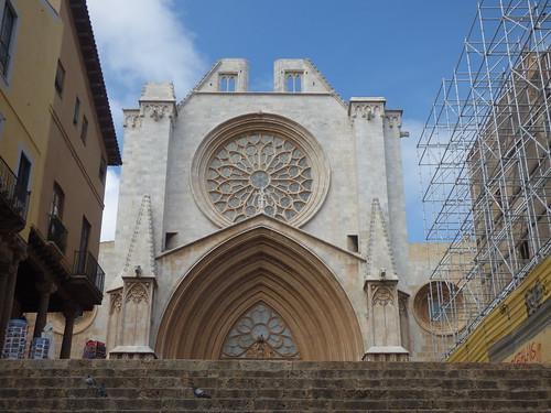 Tarragona Cathedral from Plaça de Santiago Rossinyol, Tarragona
