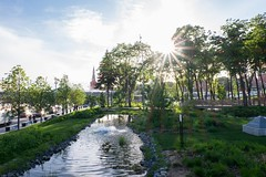 Moscow, Russia. (lolita.khlynina) Tags: river lake beautiful view walking walk garden park trees tree green blue city center cloud clouds sun happy summer russia moscow