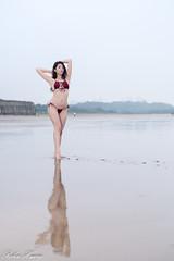 DSC_8340 (Robin Huang 35) Tags: 淡水區 新北市 中華民國 艾森 eisen 洲子灣 海邊壓光 海灘 沙灘 海邊 泳裝 比基尼 bikini 人像 portrait lady girl nikon d850