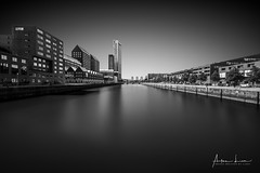 Rotterdam Spoorweghaven I (Alec Lux) Tags: bw bnw rotterdam architecture art black blackandwhite building buildings canal city cityscape exterior facade fine fineart haida haidafilters harbour longexposure netherlands outdoor outside skyline spoorweghaven urban water white