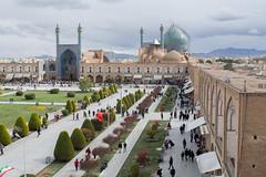 La mosquée de l'imam (hubertguyon) Tags: iran perse persia asie asia moyen middle proche orient east ispahan esfahan isfahan ville city place imam