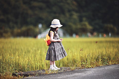 等一個人,稻香。 (M.K. Design) Tags: taiwan nantou puli renai babygirl children kid portrait nature life travel field outdoors nikon z6 mirrorless mirrorlesscamera zmount ftz 105mmf14e bokeh primelens rice mountains 台灣 南投 仁愛鄉 清流部落 川中島 賽德克 自然 人像 兒童 寫真 尼康 無反 無反光鏡相機 大光圈 定焦鏡 淺景深 散景 tele telephoto 稻田 田野 秘境