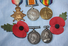 """Edwin Ollier & George Quick. """"Remembrance"""" Flickr-Friday (Yesteryear-Automotive) Tags: remembrance flickerfriday georgequick edwinollier ww1 medals medal"""