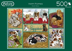 "FALCON 11 500 49X35CM ART 11219 HAPPY PUPPIES Sarah Adams DELUXE (Andrew Reynolds transport view) Tags: jigsaw ""jigsaw puzzle"" picture pieces large difficult falcon hobby leisure pasttime f 11 500 49x35cm art 11219 happy puppies sarah adams deluxe"