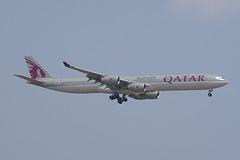 Qatar Airways Airbus A340-642 A7-AGA (EK056) Tags: qatar airways airbus a340642 a7aga bangkok suvarnabhumi airport