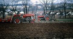 Park precursor  .  .  . (ericrstoner) Tags: plow plowing anscochromeslide lancaster lancastercounty pennsylvania stonerpark masseyferguson moldboardplow manheimtownship northbrookhills masseyferguson165 soil plowedsoil duffieldsiltloam