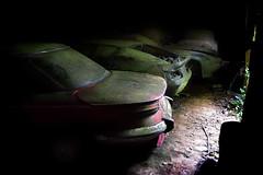 Panhard 24ct Renault Alpine A310 Porsche 929 Panhard PL 17 (à l'oeil de verre photographie) Tags: épave rouille volant forêt perdu wreck lost mousse poussière àloeildeverrephotographie voiture grange