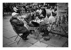 FILM - Bryant Park chess (fishyfish_arcade) Tags: 35mm analogphotography bw blackwhite blackandwhite canonsureshotz135 filmphotography filmisnotdead hp5 istillshootfilm monochrome newyork analogcamera compact film ilford mono bryantpark streetphotography