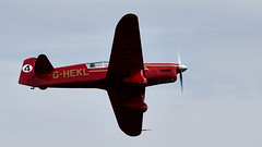 Mew Gull (Bernie Condon) Tags: percival mewgull racing plane aircraft vintage preserved percivalaircraftcompany ghekl 1930s uk british shuttleworth collection oldwarden airfield airshow display aviation flying festivalofflight june2019
