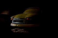 Panhard PL 17 (à l'oeil de verre photographie) Tags: épave rouille volant forêt perdu wreck lost mousse poussière àloeildeverrephotographie voiture grange
