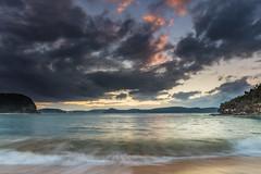 High Tide Swells Up Sunrise Seascape (Merrillie) Tags: daybreak sunrise nature australia landscape centralcoast newsouthwales waves pearlbeach nsw morning sea ocean water outdoors earlymorning coastal waterscape sky seascape clouds coast dawn seaside