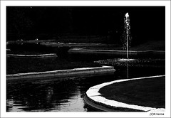 Lines... (Verma Ruchi) Tags: lines water bw fountain tree