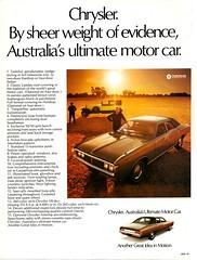 1972 CH Chrysler By Chrysler Sedan Aussie Original Magazine Advertisement (Darren Marlow) Tags: 1 2 7 9 19 72 1972 c h ch chrysler b by car cool collectiblecollectors classic a automobile v vehicle aussie australian australia 70s
