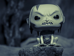 Gollum in his cave (DayBreak.Images) Tags: tabletop toy funkopop gollum canoneosm mirrorless ringlight lightroom preset splittone home