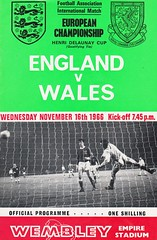 England vs Wales - 1966 - Cover Page (The Sky Strikers) Tags: england wales championship european cup one football official stadium tie international empire match shilling henri association wembley programme delaunay qualifying